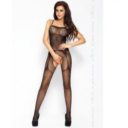 PASSION EROTICLINE CATSUIT NEGRO BS006