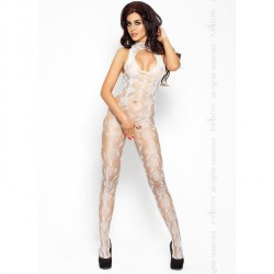 PASSION EROTICLINE CATSUIT BLANCO BS009