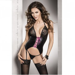 ROXY CORSET C/LIGUERO NEGRO LEATHER FUSION L/XL