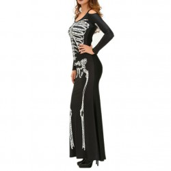 QUEEN SKELETON VESTIDO NEGRO