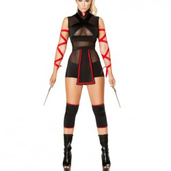QUEEN COSTUME NINJA SET 3 PCS M
