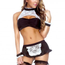 QUEEN COSTUME SIRVIENTA SEXY 3 PCS TALLA UNICA