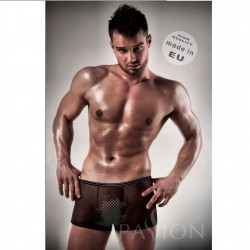 BOXER NEGRO 025 TRANSPARENTE BY PASSION MEN L/XL