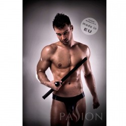 JOCKSTRAP BLACK 008 LEATHER PASSSION MEN LINGERIE L/XL