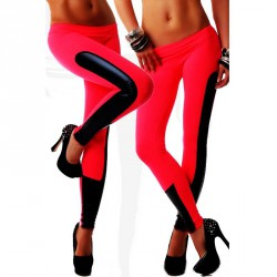 QUEEN LINGERIE LEGGING RED AND BLACK