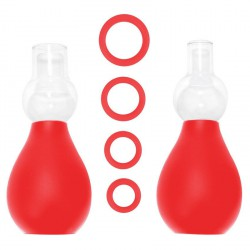 OUCH SET ERECTOR PEZONES ROJO
