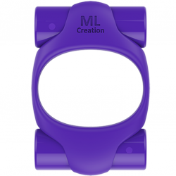 ML CREATION POTENTE ANILLO VIBRADOR RECARGABLE LILA