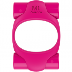 ML CREATION POTENTE ANILLO VIBRADOR RECARGABLE ROSA INTENSO
