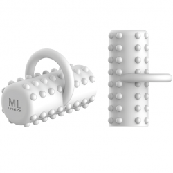 ML CREATION POTENTE DEDAL VIBRADOR RECARGABLE BLANCO