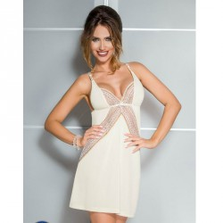 CASMIR CHEMISE CONNIE COLOR CREMA TALLA L/XL