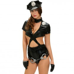 QUEEN COSTUME SEXY POLICE WOMAN 5 PCS M