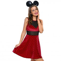 QUEEN COSTUME MINNIE MOUSE 2PCS TALLA M