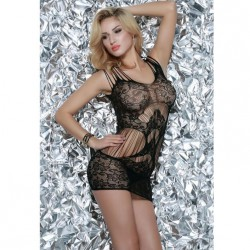 QUEEN LINGERIE VESTIDO EN RED NEGRO