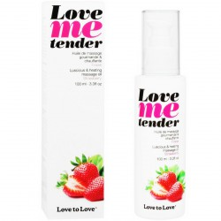LOVE TO LOVE ME TENDER MASAJE & EFECTO CALOR SABOR A FRESA 100ML
