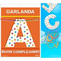 GUIRNALDA BUON COMPLEANNO (Cartulina 220gr)