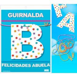 GUIRNALDA FELICIDADES ABUELA (Cartulina 220gr)