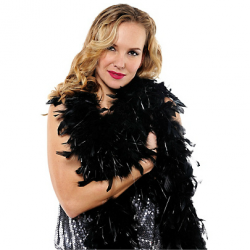 BLACK FEATHER BOA 1.83 CM