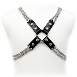 LEATHER BODY CHAIN HARNESS