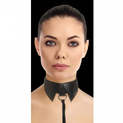 OUCH COLLAR CLASICO SUMISION ESCLAVO NEGRO