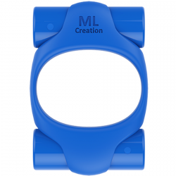 ML CREATION POTENTE ANILLO VIBRADOR RECARGABLE AZUL