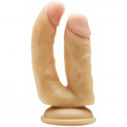 REAL ROCK DOBLE PENETRACION NATURAL / ANAL 12 CM VAGINAL 10 CM