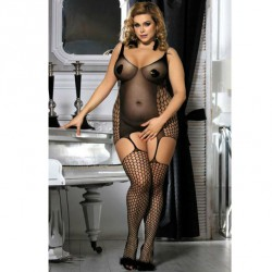 QUEEN BODYSTOCKING TALLA GRANDE NEGRO XL