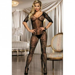 QUEEN BODYSTOCKING NEGRO TALLA UNICA