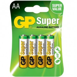 GP SUPER ALKALINE PILA ALCALINA AA LR6 BLISTER*4