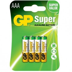 GP SUPER ALKALINE PILA ALCALINA AAA LR03 BLISTER*4