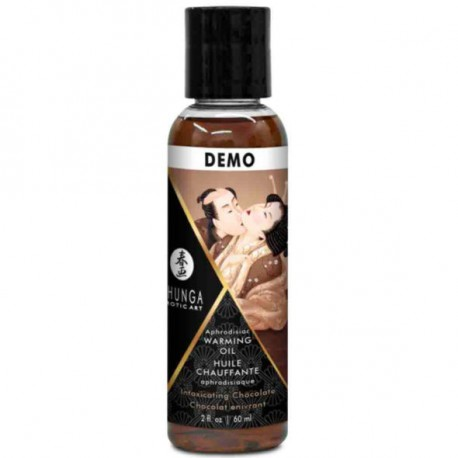 SHUNGA ACEITE MASAJE EFECTO CALOR SABOR INTENSO CHOCOLATE 60 ML