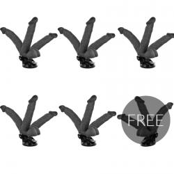 BASECOCK VIBRADOR ARTICULABLE CONTROL REMOTO NEGRO 20 CM 5+1 GRATIS