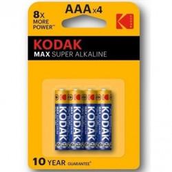 KODAK MAX SUPER PILA ALCALINA AAA LR03 BLISTER*4